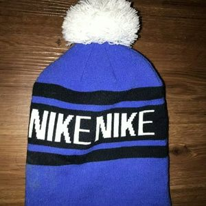 Vintage Nike Beanie In Blue/Black